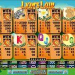 Правила гри в ігровому автоматі Lions Lair